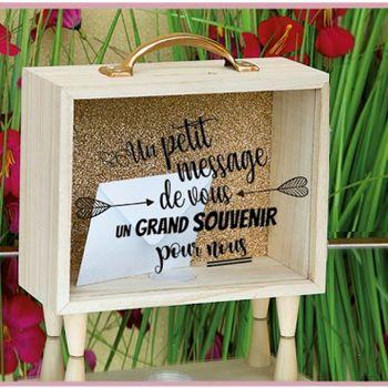 Urne en bois transparente Un petit message de vous...