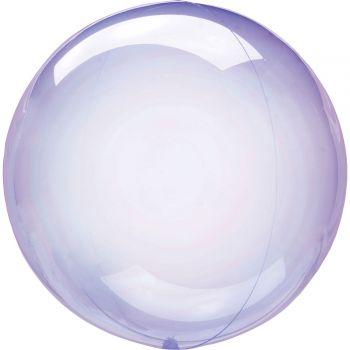 Ballon bulle cristal violet