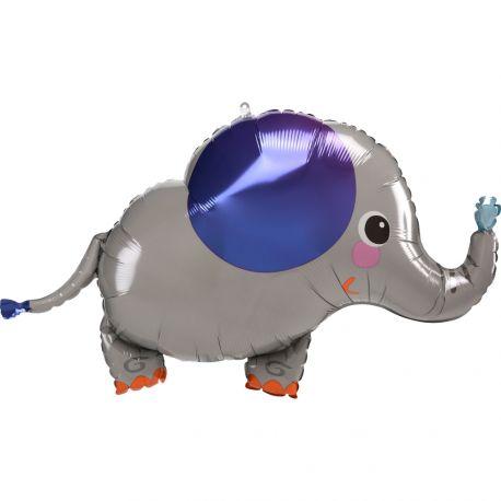 Superbe ballon en aluminium en forme d'éléphant pour une déco anniversaire sur le thème jungle safariPeut être gonflé sans hélium à...