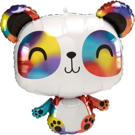 Superbe ballon en aluminium en forme de panda pour une déco anniversaire sur le thème jungle safariPeut être gonflé sans hélium à...