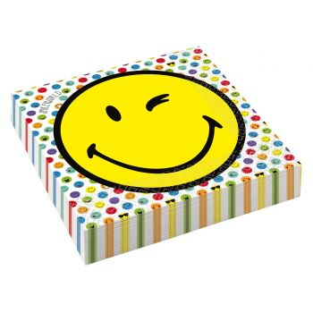 16 Serviettes papier Smileyworld