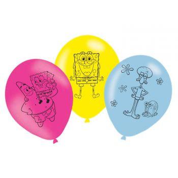 6 Ballons anniversaire Minions