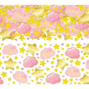 Confettis métallisés papier Oh my baby rose