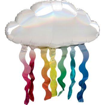 Ballon hélium nuage arc en cile 76cm