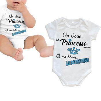Body bébé Princesse viendra