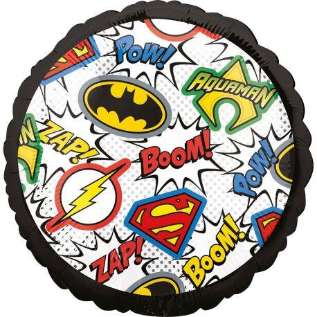Ballon Justice League hélium en forme de rond pour la deco anniversaire de votre enfant.Ballon pouvant être gonflé avec ou sans...