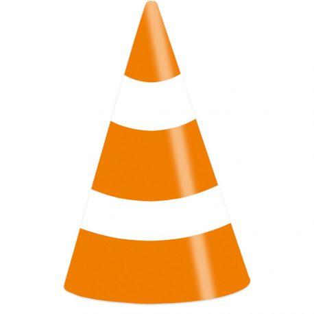 8 Chapeaux de fête en forme de cône de chantier pour une belle décoration de table d'anniversairePeut être utiliser en décoration de...