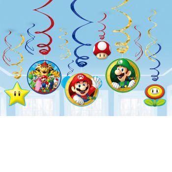 12 guirlandes swirl Super Mario Bros