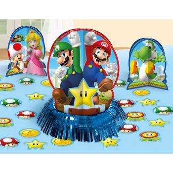 Kit décors de table métallisés Super Mario Bros
