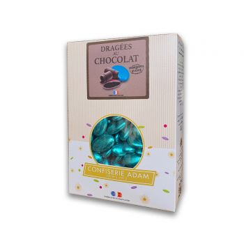 Dragées chocolat brillant blue gold 500gr