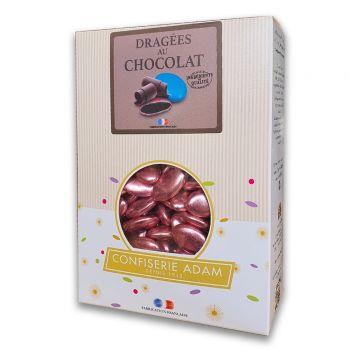 Dragées chocolat brillant pink gold 1kg