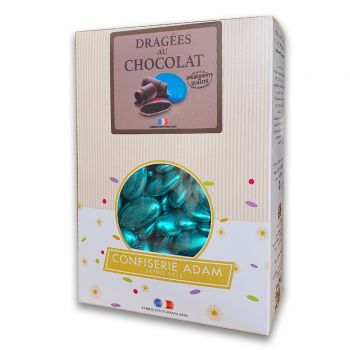 Dragées chocolat brillant blue gold 1kg