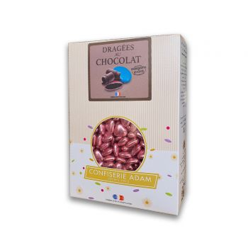 Dragées mini coeur chocolat brillant pink gold 250gr