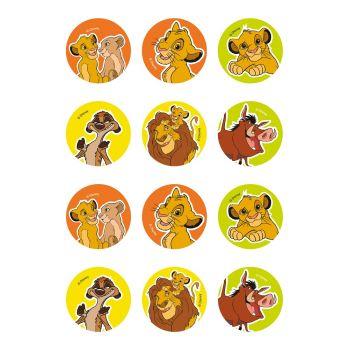 12 mini disque en sucre Le Roi Lion Ø5.5cm