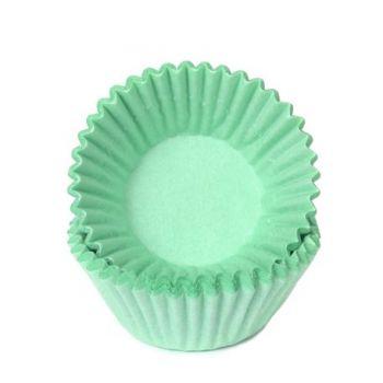 100 Mini Caissettes à chocolat Pastel vert