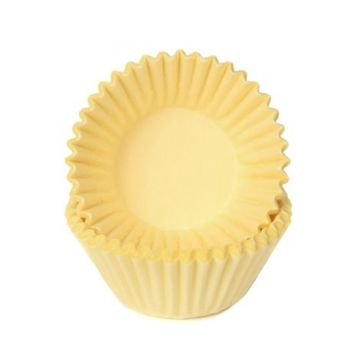 100 Mini Caissettes à chocolat Pastel jaune