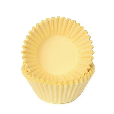 Les petits fours et les chocolats ont encore meilleur goût dans ces belles caissettes en papier pastel jauneConvient pour faire des...