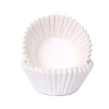 100 Mini Caissettes à chocolat blanche