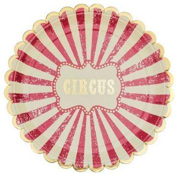 8 Assiettes carton circus vintage