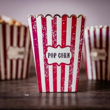 8 Boites Pop Corn circus vintage