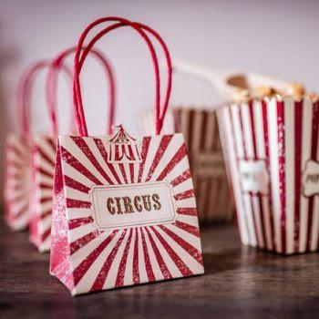4 Mini sachets circus vintage