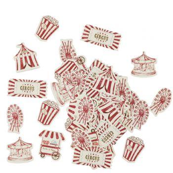 100 confettis carton circus vintage