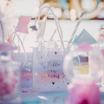 4 Mini sachets Gender reveal fille ou garçon