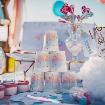 8 gobelets Gender reveal fille ou garçon
