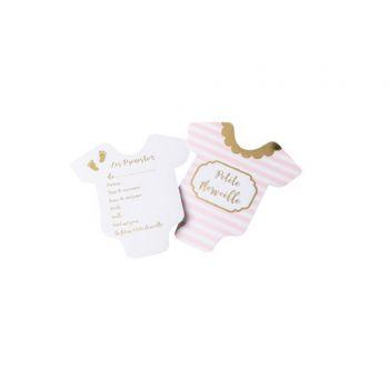10 Cartes pronostics petite merveille rose blanc or