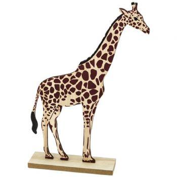 Figurine Girafe en bois 27cm