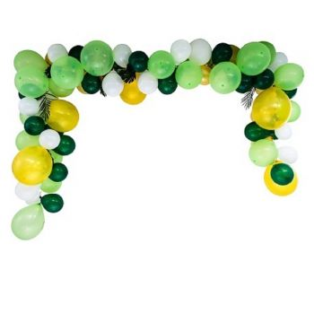 Kit arche de 70 ballons tropical