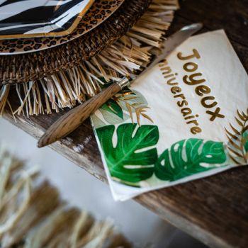 16 serviettes safari graou