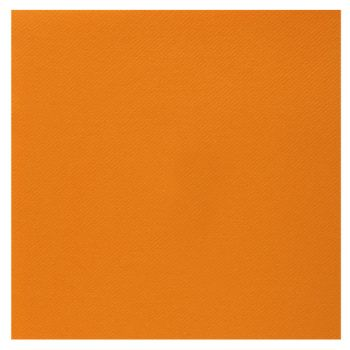 25 Serviettes velours luxe orange