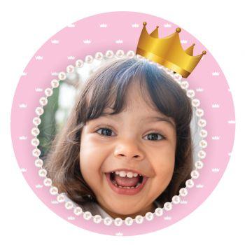 Disque sucre pour gâteau personnalisé Princesse Couronne