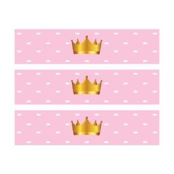 3 Bandes de gâteaux sucre décor Princesse