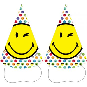 8 chapeaux carton Smileyworld
