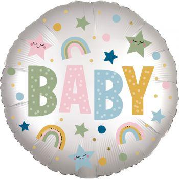 Ballon hélium baby pastel satin luxe 43cm