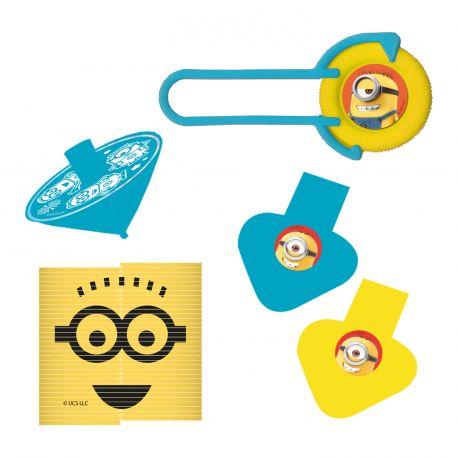 Pack de jeux 24 pièces à l'effigie des Minions pour une belle décoration d'anniversaireIdéal pour garnir les sachets de fête et...