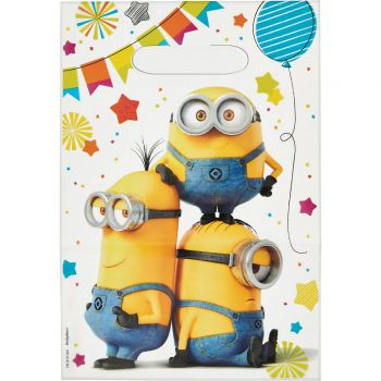 6 Sachets de fête Minions party