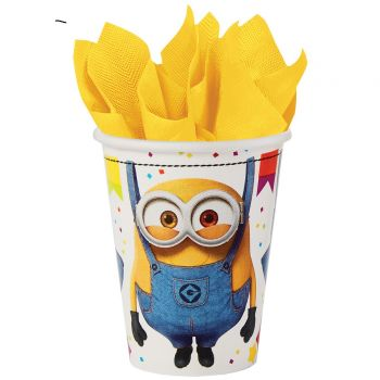8 Gobelets carton Minions party