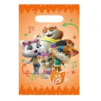 8 Sachets en papier 44 chats