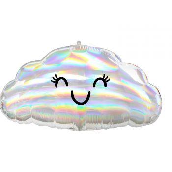 Ballon hélium nuage irisé 58cm