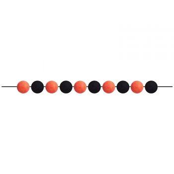 Guirlande de pompons orange et noir