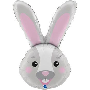 Ballon helium tête de lapin