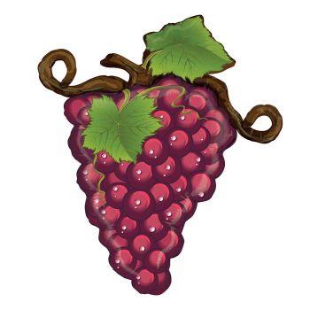 Ballon helium grappe de raisin rouge