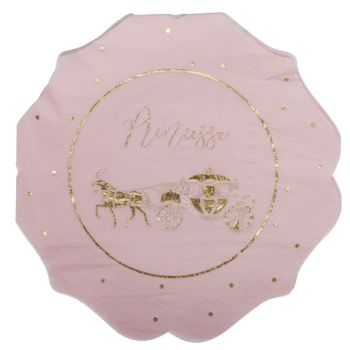 16 Serviettes Princesse rose