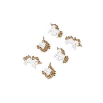 6 Jolie Licorne pailletés or adhésives