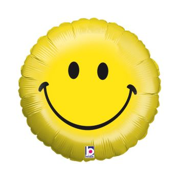 Ballon helium smiley sourire