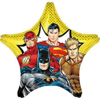 Ballon hélium géant étoile Justice league