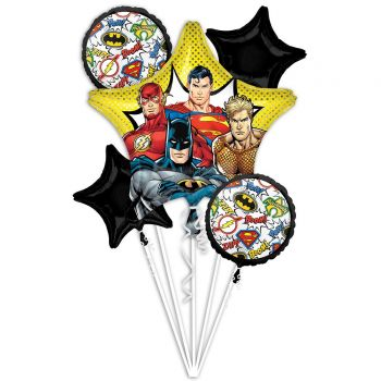 Bouquet ballons hélium Justice League